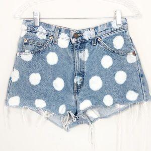 Levi's   Vintage Polka Dot Denim Jean Shorts W30